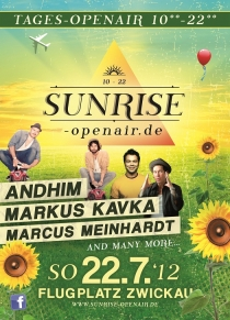 SONNTAG 22.07.2012 (10-22 Uhr) // FLUGPLATZ ZWICKAU // SUNRISE TAGES OPEN AIR