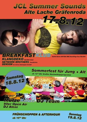 FR 17.08.12 - SO 19.08.12 // ALTE LACHE GRÄFENRODA // JCL SUMMER SOUNDS