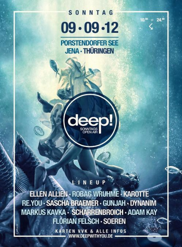 SONNTAG 09.09.2012 (10 Uhr) // PORSTENDORFER SEE JENA // deep! SONNTAGSOPENAIR